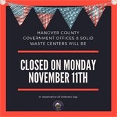 Veterans Day Closing