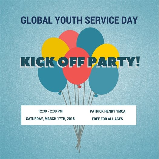 Global Youth Service Day Kick-Off Party 2018